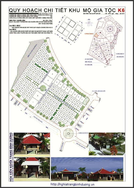 Thông báo ban hành chính thức qui hoạch khu mộ gia tộc K6