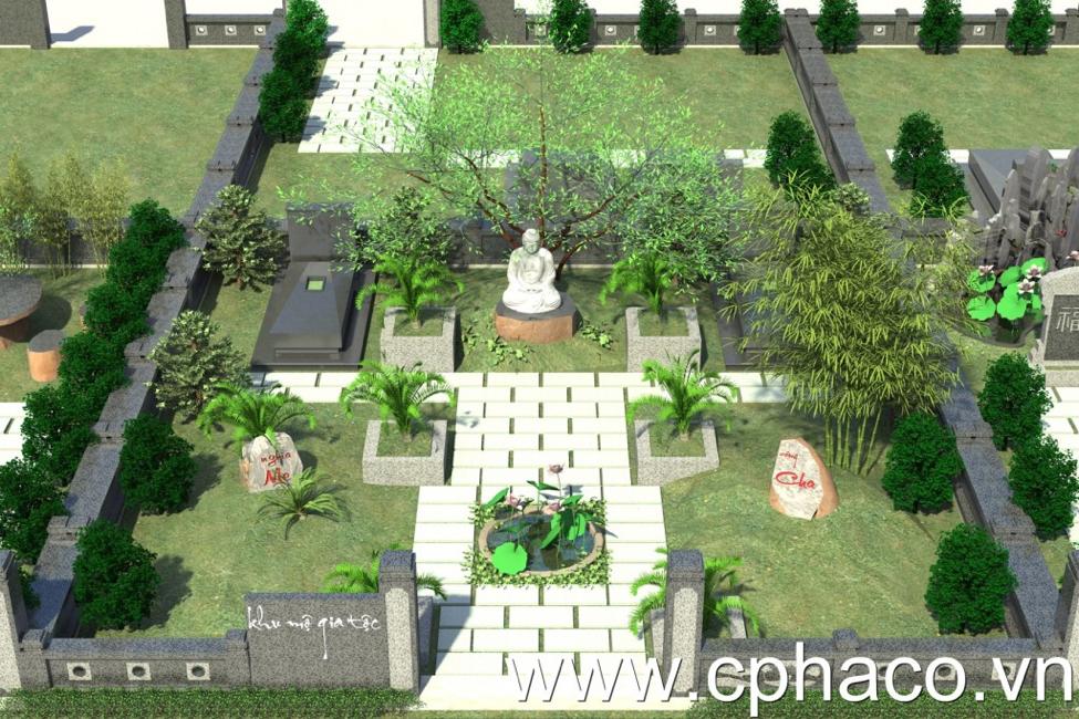 Thiết kế mẫu lăng mộ đá đẹp hợp phong thủy ở Việt Nam