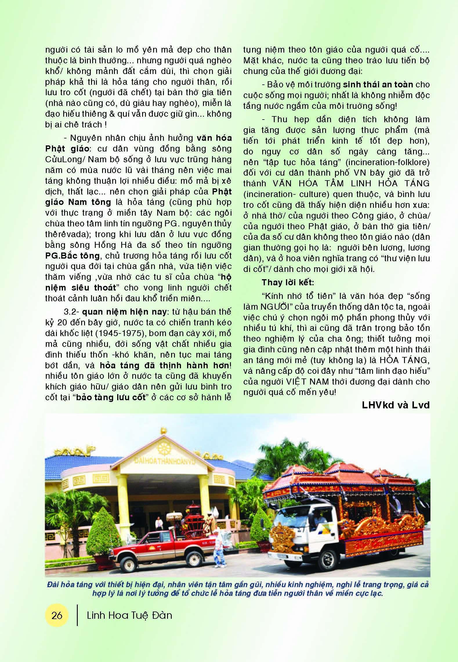 Bản tin Linh Hoa Tuệ Đàn (số 10 - 2016)