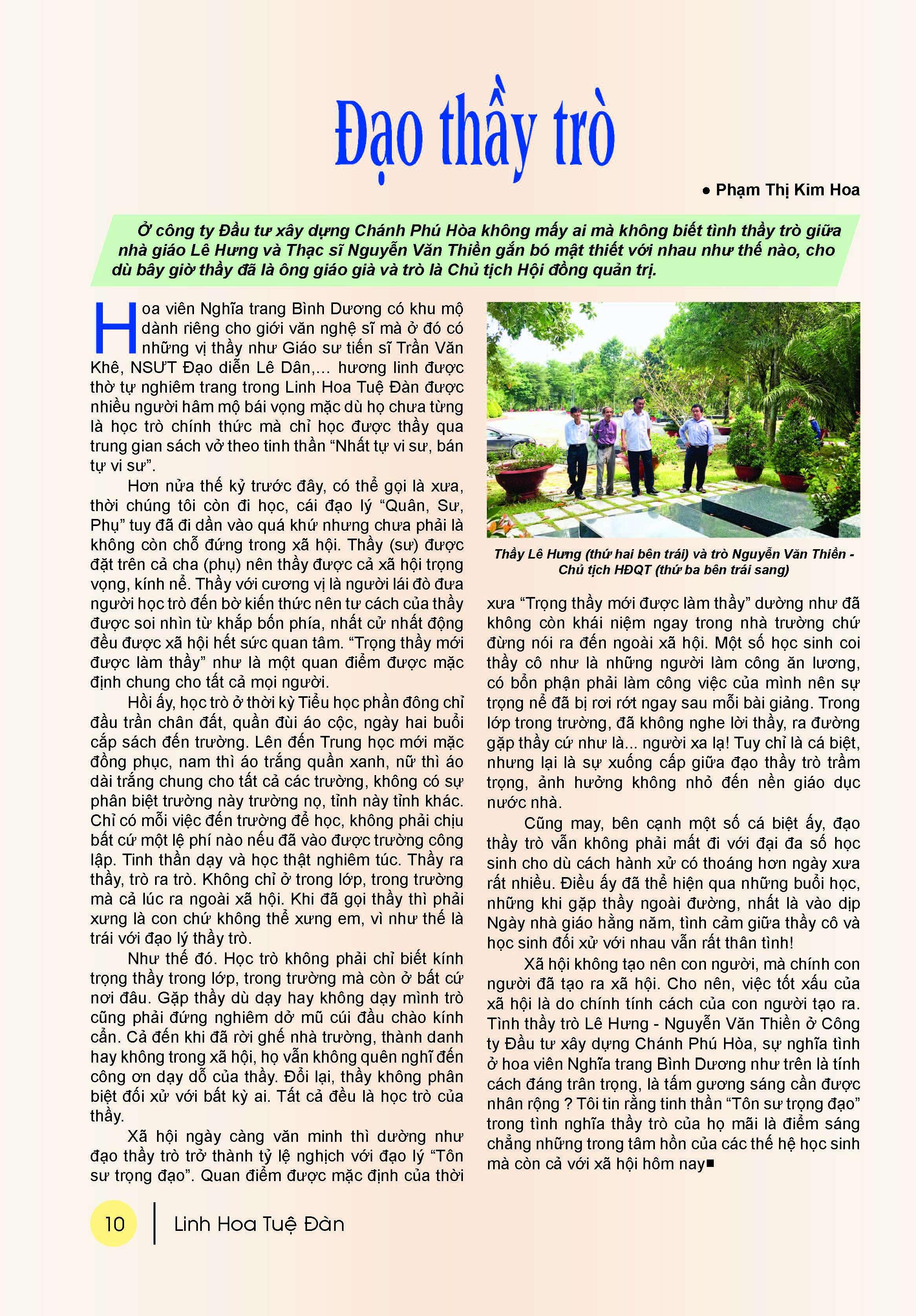 Bản tin Linh Hoa Tuệ Đàn (số 14 - 2017)