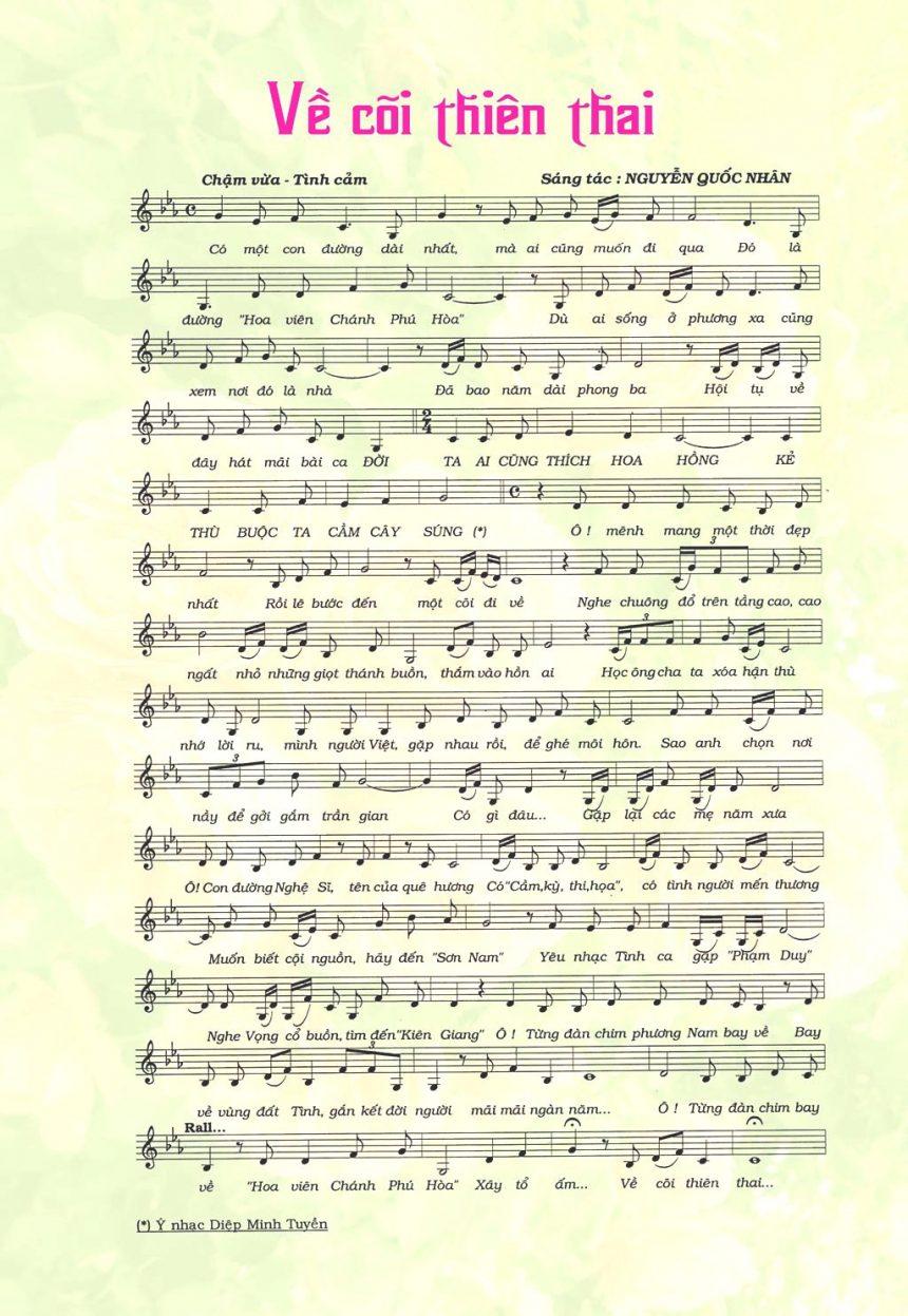 Giới thiệu ca khúc viết về Hoa viên