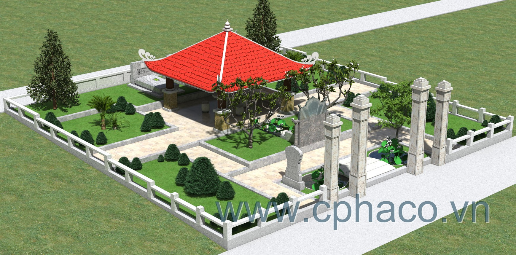 Thiết kế lăng mộ đẹp