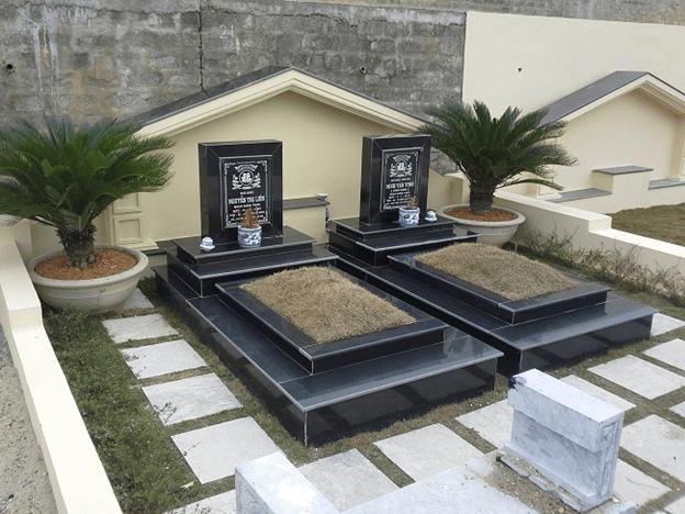 mẫu xây mộ đôi đẹp
