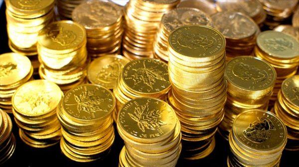 tiền vàng dùng trong lễ ngậm hàm