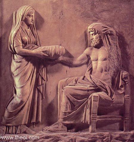 Nữ thần Rhea và thần Cronos trong thần thoại Hy Lạp
