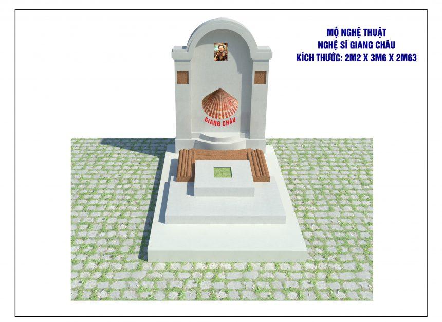 Mẫu thiết kế mộ phần độc đáo, mang đậm dấu ấn vai diễn đặc sắc của NSƯT Giang Châu