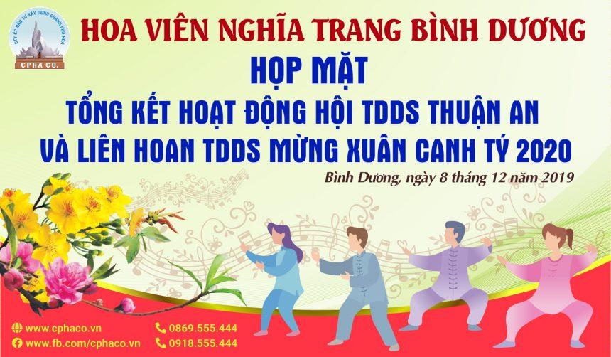 [THÔNG BÁO] Họp mặt tổng kết hoạt động hội TDDS Thuận An và liên hoan TDDS mừng xuân Canh Tý 2020