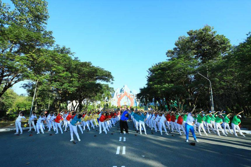 Hơn 600 người cao tuổi về dự lễ tổng kết hoạt động cuối năm và liên hoan TDDS chào mừng xuân Canh Tý 2020 hội TDDS Thuận An
