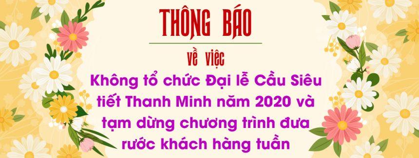 [THÔNG BÁO] Không tổ chức Lễ hội Thanh Minh và Lễ hội Hùng Vương năm 2020