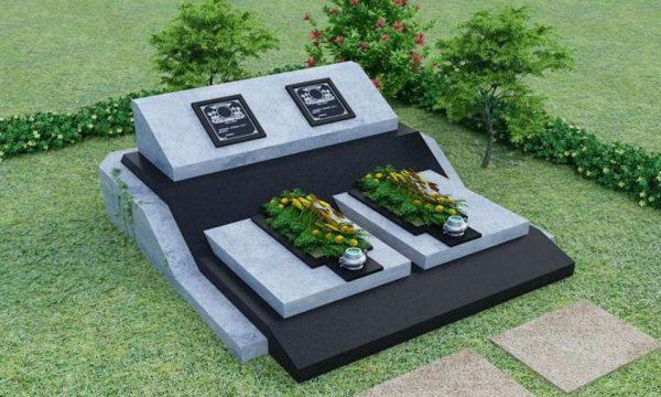 Mẫu mộ đá đôi đẹp 6