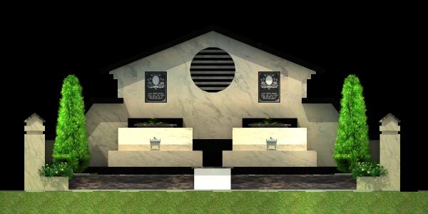 Mẫu mộ đá đôi đẹp 13