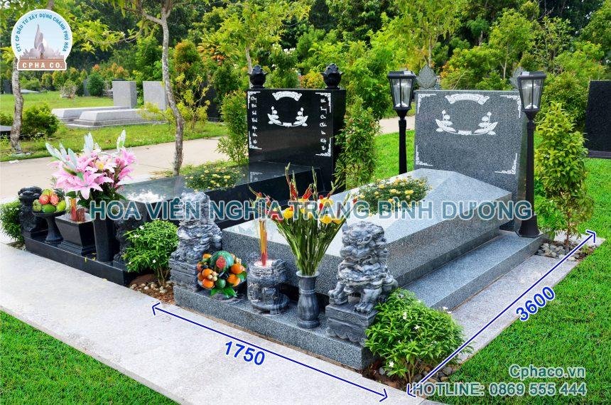 Mẫu mộ đá đôi đẹp 3