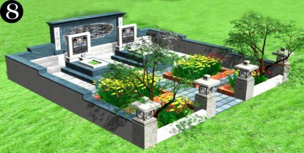 mẫu nghĩa trang gia đình 8