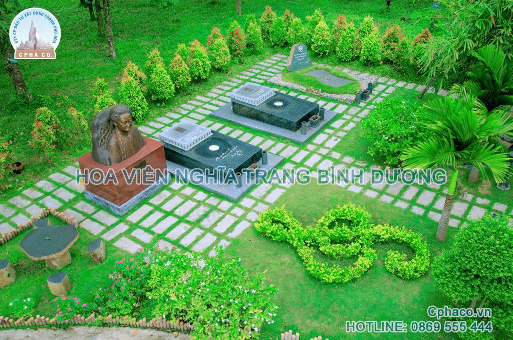 Khu vườn mộ Nhạc sĩ Phạm Duy tại Hoa viên Nghĩa trang Bình Dương