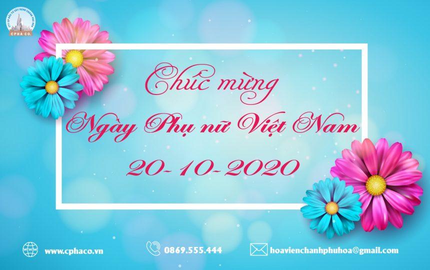Chào mừng ngày Phụ nữ Việt Nam 20/10/2020