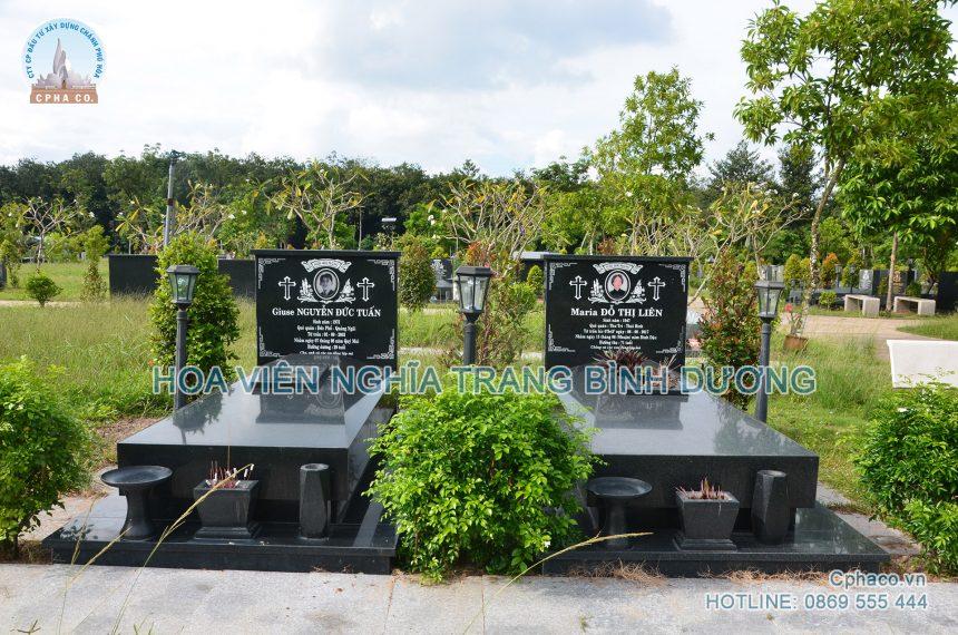 Mộ đơn Công giáo – Hoa Viên nghĩa trang Bình Dương